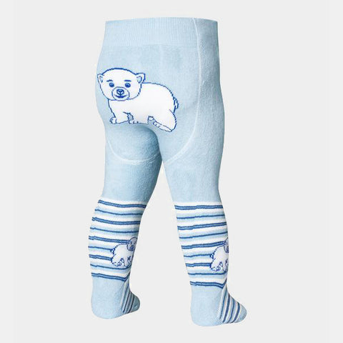 Leggings Termici con Piedino Polar Bear Navy | PLAYSHOES | RocketBaby.it