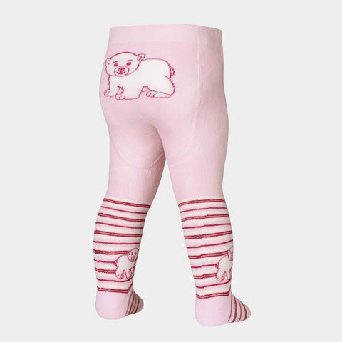 Leggings Termici con Piedino Polar Bear Pink | PLAYSHOES | RocketBaby.it