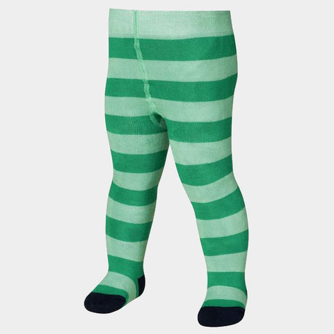 Leggings Termici con Piedino Block Stripes Green | PLAYSHOES | RocketBaby.it
