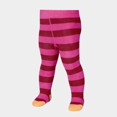 Leggings Termici con Piedino Block Stripes Pink | PLAYSHOES | RocketBaby.it