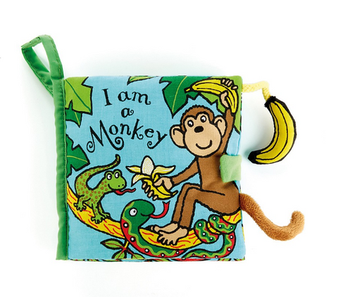 I am a Monkey Libro Morbido in Inglese | JELLY CAT | RocketBaby.it