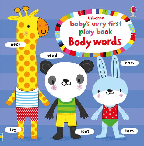 Libro Tattile in Inglese Play Book Body Words | USBORNE | RocketBaby.it