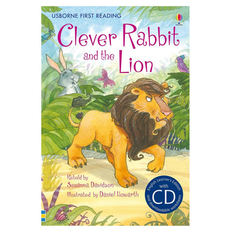 Libro in Inglese Clever Rabbit And The Lion con Cd | USBORNE | RocketBaby.it