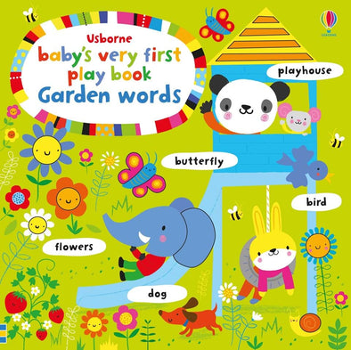 Libro in Inglese Play Book Garden Words | USBORNE | RocketBaby.it