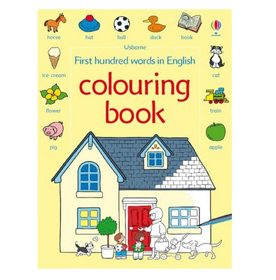 Libro in Inglese da Colorare First 100 Words In English | USBORNE | RocketBaby.it