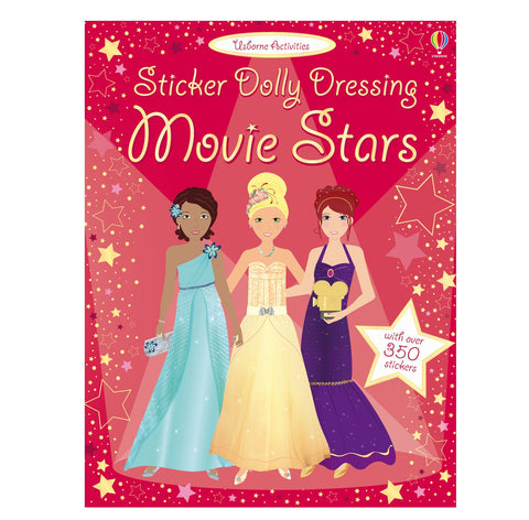 Libro in Inglese con Adesivi Dolly Dressing Movie Stars | USBORNE | RocketBaby.it