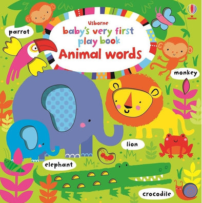 Libro in Inglese Play Book Animal Words | USBORNE | RocketBaby.it