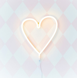 Lampada Luce LED Cuore Giallo | A LITTLE LOVELY COMPANY | RocketBaby.it