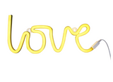 Lampada Luce LED Love Giallo | A LITTLE LOVELY COMPANY | RocketBaby.it