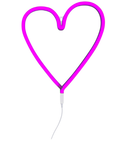Lampada Luce LED Cuore Rosa | A LITTLE LOVELY COMPANY | RocketBaby.it