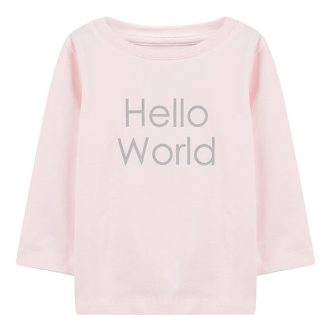 Maglia a Maniche Lunghe Hello World Ballerina | NAME IT | RocketBaby.it
