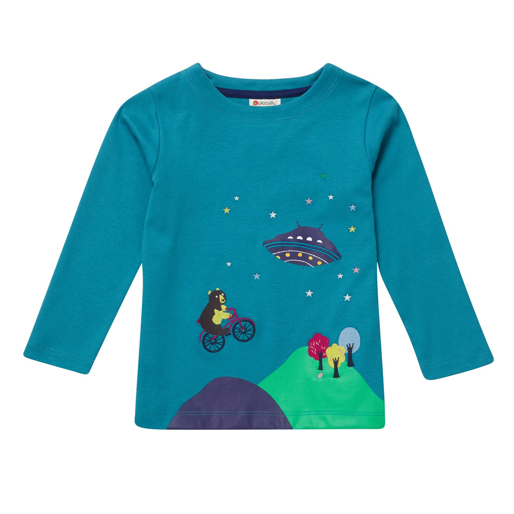 Maglia a Maniche Lunghe Out Of This World | PICCALILLY | RocketBaby.it