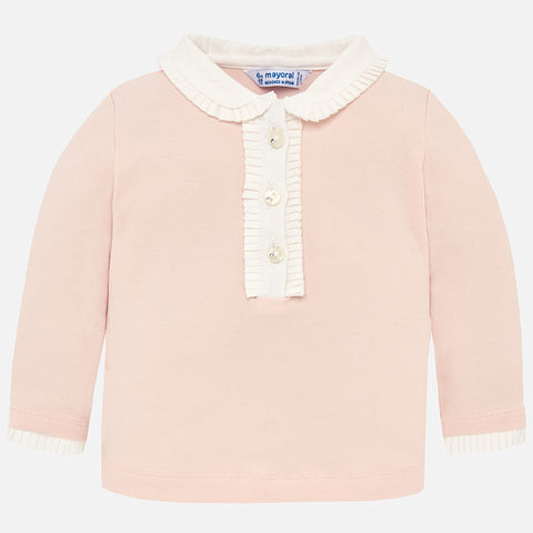 Maglia Polo a Maniche Lunghe Rosa | MAYORAL | RocketBaby.it