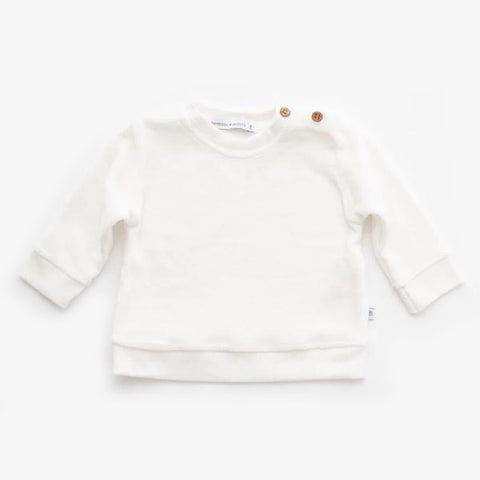 Maglietta A Maniche Lunghe In Velluto Offwhite | BAMBOOM | RocketBaby.it