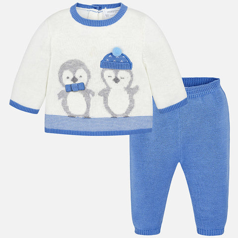 Set Completo Maglione e Pantaloni Pinguino Ghiaccio | MAYORAL | RocketBaby.it
