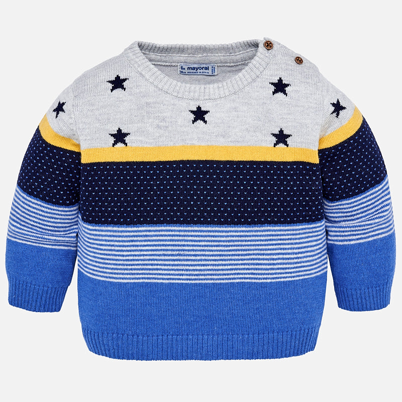 Maglione a Righe e Stelle Oro | MAYORAL | RocketBaby.it