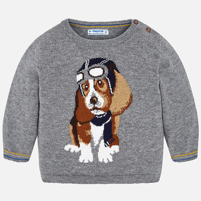 Maglione con Cane Pilota Cenere | MAYORAL | RocketBaby.it