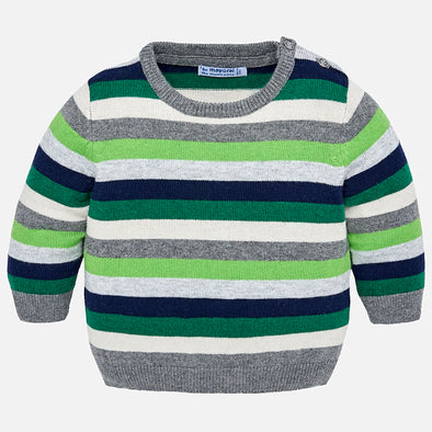 Maglione a Maniche Lunghe Righe Biogreen | MAYORAL | RocketBaby.it