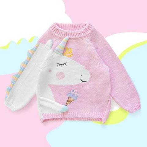 Maglione Unicorn Pink | APERO | RocketBaby.it