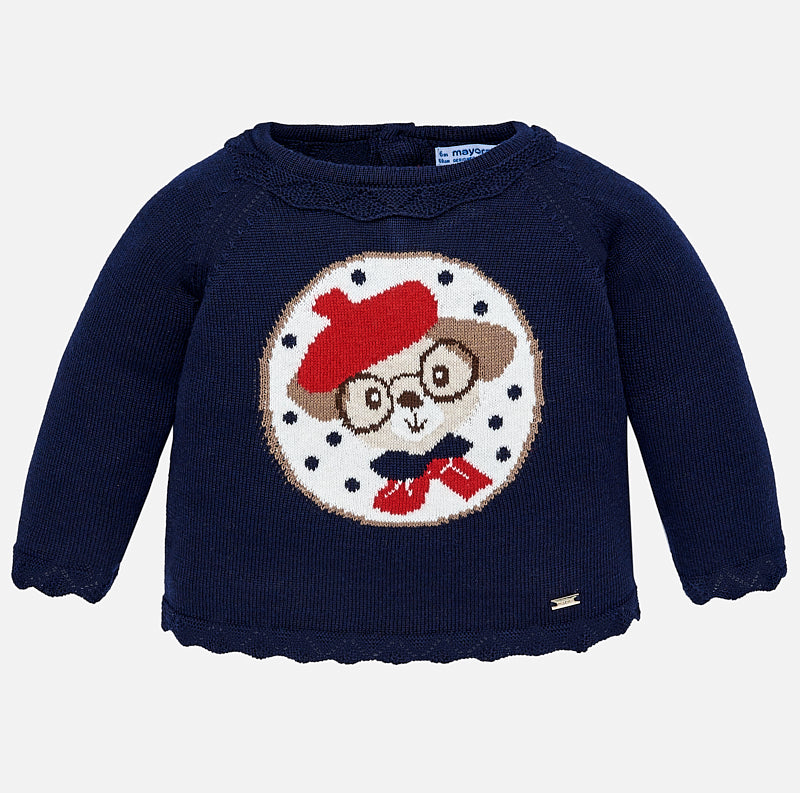 Maglione con Cane Blu Navy | MAYORAL | RocketBaby.it