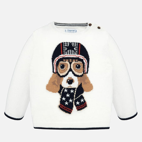 Maglione Cagnolino Aviatore Panna | MAYORAL | RocketBaby.it