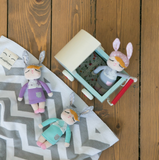 Mini Bambola Coniglio  Little Bunny Violetto - RocketBaby - 4