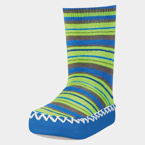Mocassini Antiscivolo da Casa Striped Blue | PLAYSHOES | RocketBaby.it