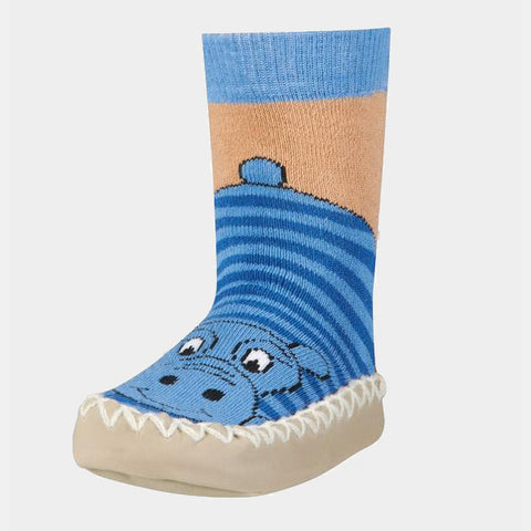 Mocassini Antiscivolo da Casa Hippo Blue | PLAYSHOES | RocketBaby.it