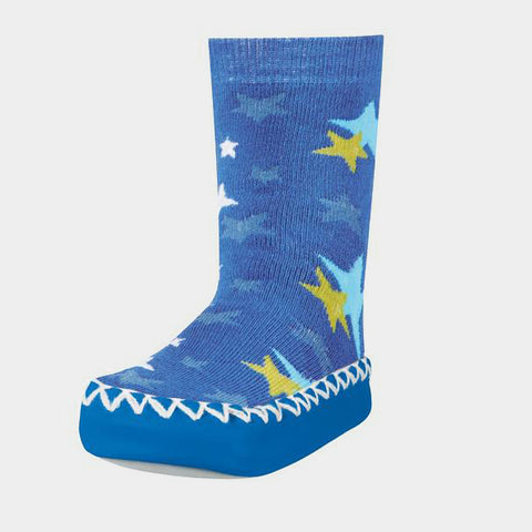 Mocassini Antiscivolo da Casa Stars Blue | PLAYSHOES | RocketBaby.it