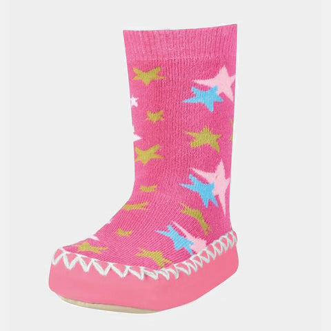 Mocassini Antiscivolo da Casa Stars Pink | PLAYSHOES | RocketBaby.it