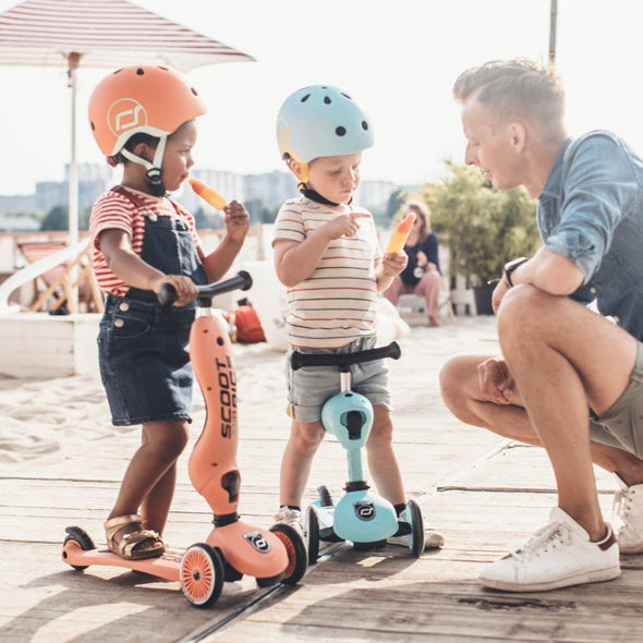 Bici e Monopattino 2 in 1 Highwaykick 1 Peach | SCOOT AND RIDE | RocketBaby.it