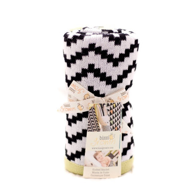 Coperta Chevron Black E White | BIZZI GROWIN | RocketBaby.it