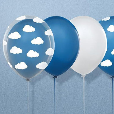Set 6 Palloncini Pastel Cornflower Blue | PARTY DECO | RocketBaby.it