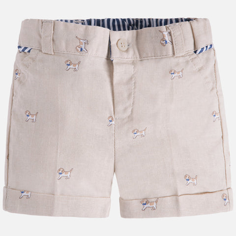Pantaloni Corti in Lino Nougat | MAYORAL | RocketBaby.it