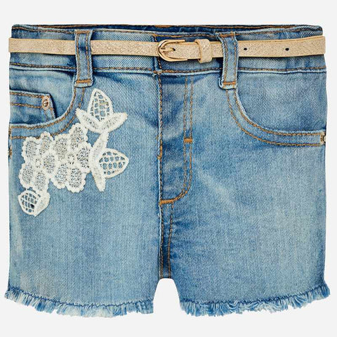 Pantaloni Corti in Jeans con Cintura | MAYORAL | RocketBaby.it