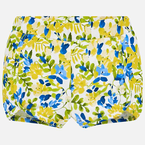 Pantaloni Corti Floreali Giallo | MAYORAL | RocketBaby.it