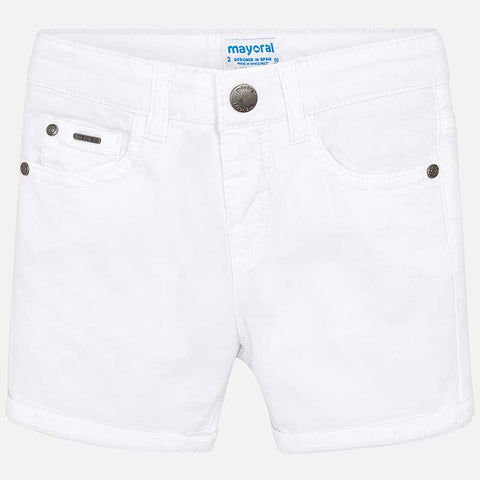 Pantaloni Corti Twill Bianco | MAYORAL | RocketBaby.it