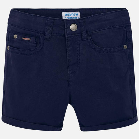 Pantaloni Corti Twill Blu Navy | MAYORAL | RocketBaby.it