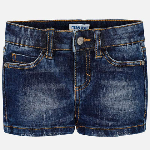 Pantaloni Corti in Jeans Scuro | MAYORAL | RocketBaby.it