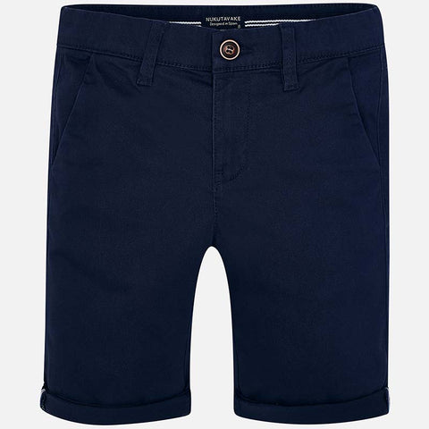 Pantaloni Corti Bermuda Chino Blu Navy | MAYORAL | RocketBaby.it