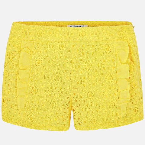 Pantaloni Corti con Volant Giallo | MAYORAL | RocketBaby.it