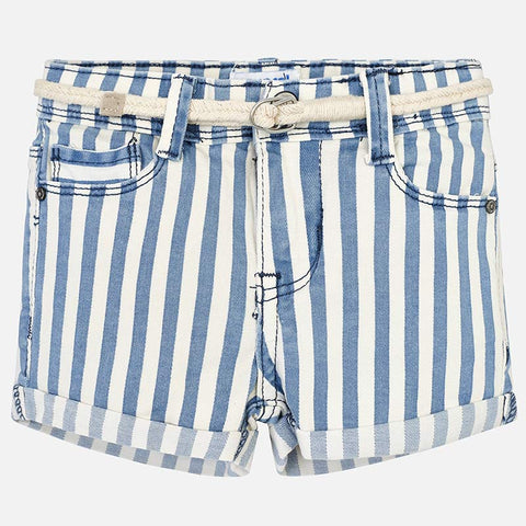 Pantaloni Corti in Jeans con Cintura Righe Nautico | MAYORAL | RocketBaby.it