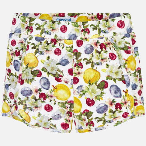 Pantaloni Corti Stampa Frutta Giallo | MAYORAL | RocketBaby.it