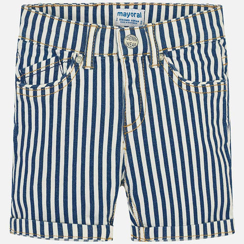 Pantaloni Corti Bermuda in Jeans a Righe | MAYORAL | RocketBaby.it