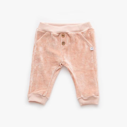 Pantaloni In Velluto Pink | BAMBOOM | RocketBaby.it
