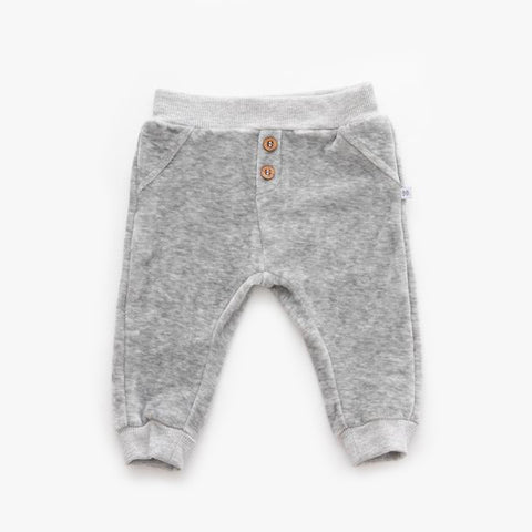 Pantaloni In Velluto Grey Melange | BAMBOOM | RocketBaby.it