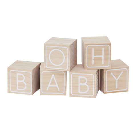 6 Cubi in Legno Oh Baby | GINGER RAY | RocketBaby.it