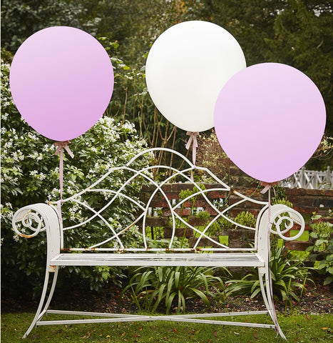 3 Palloncini XXL White and Pink Vintage | GINGER RAY | RocketBaby.it
