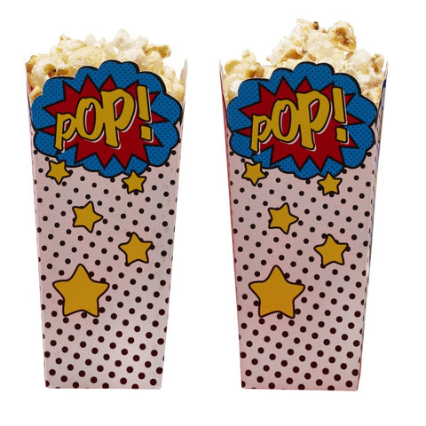 8 Sacchetti per Popcorn Comic Superhero | GINGER RAY | RocketBaby.it