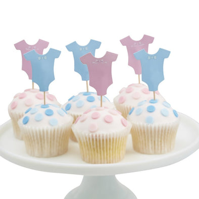 12 Decorazioni per Dolci Little Lady or Mini Mister | GINGER RAY | RocketBaby.it